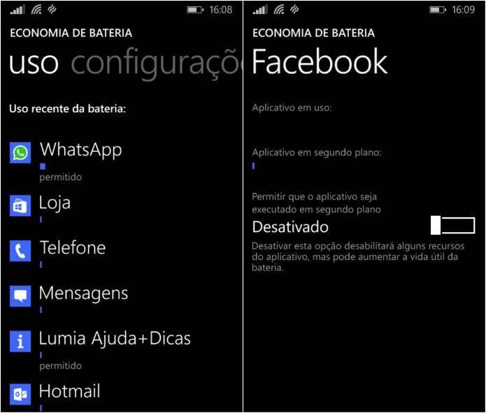Lista com os apps que mais gastam bateria (Foto: Reprodução/Helito Bijora)