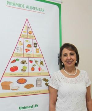 Nutricionista Sheila Castro alerta para importância de se manter um cardápio baseado em alimentos naturais (Foto: Unimed SJC)