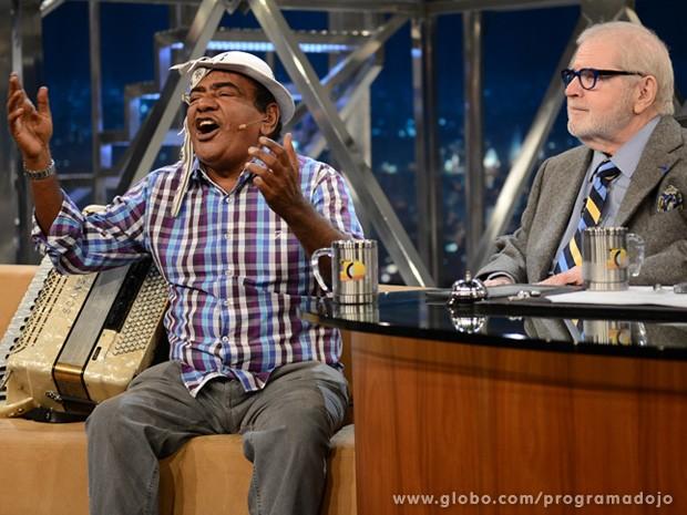 Pinto do Acordeon participa do Programa do Jô desta sexta-feira (Foto: TV Globo/Programa do Jô)