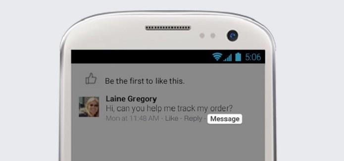 Botão 'Mensagem' estará ativo para os administradores das páginas (Foto: Divulgação/Facebook) (Foto: Botão 'Mensagem' estará ativo para os administradores das páginas (Foto: Divulgação/Facebook))