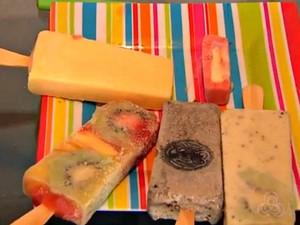 Salada de frutas, maracujá, açai com banana e cupuaçu são alguns dos sabores das paletas mexicanas (Foto: Reprodução/TV Acre)