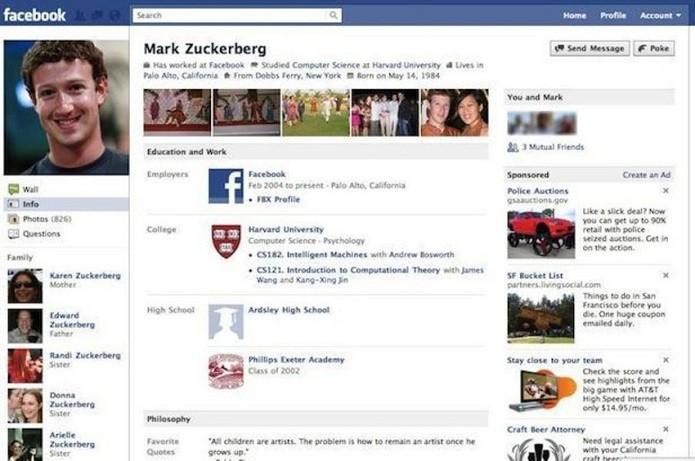 2010: imagem mais famosa de Zuckerberg no perfil (Foto: Divulgação/Facebook NewsRoom)