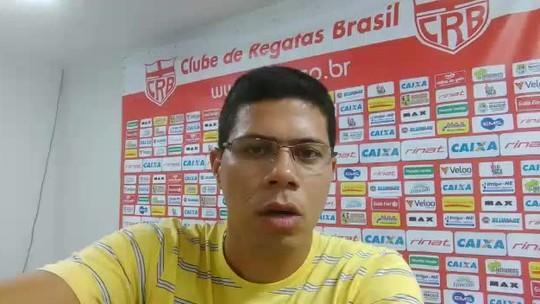Preocupado com gols sofridos, técnico do CRB faz treino de posicionamento