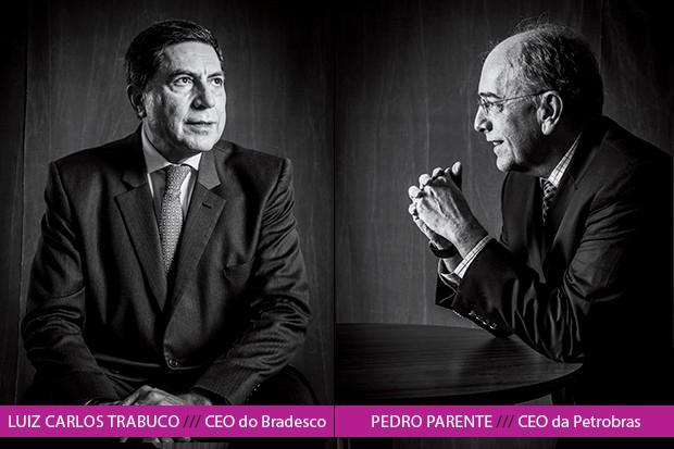 """Pedro Parente diz a Luiz Carlos Trabuco que, ao assumir a estatal de petróleo, perdeu dinheiro e aumentou seu risco pessoal. Mas vai seguir em frente: """"Isso se eu puder fazer o que tem de ser feito"""" (Foto: Rogério Albuquerque)"""
