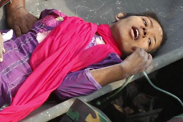 Ela foi identificada pela mídia local como Reshma (Foto: AFP)