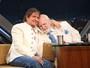 Roberto Carlos faz homenagem para Jô Soares e leva apresentador às lágrimas: 'Meu amigo de fé'