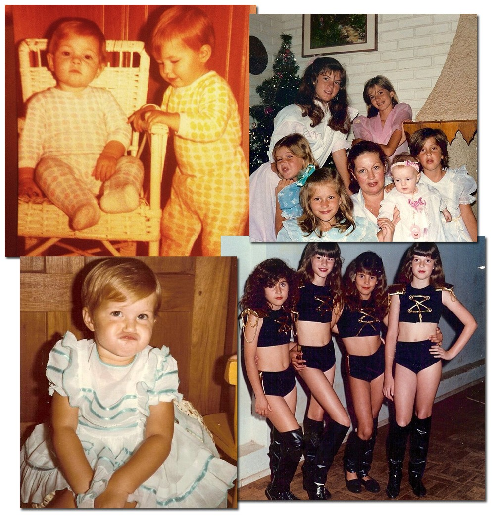 Flashback: cliques da família de Gisele Bündchen, principalmente os flagras mais divertidos com as irmãs (Foto: Reprodução/Instagram)