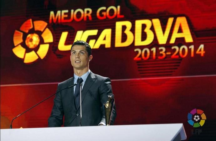 Cristiano Ronaldo prêmio Campeonato Espanhol (Foto: Reprodução / Twitter)