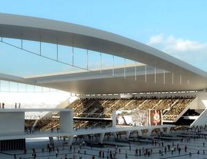 Projeto arena corinthians maquete (Foto: Divulgação)