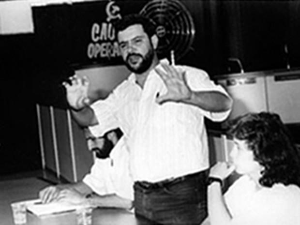 Rui Costa Pimenta durante o congresso de fundação do PCO, em 1994 (Foto: Arquivo pessoal/Divulgação)