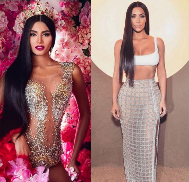 Sthefany e Kim Kardashian (Foto: Reprodução/Instagram)