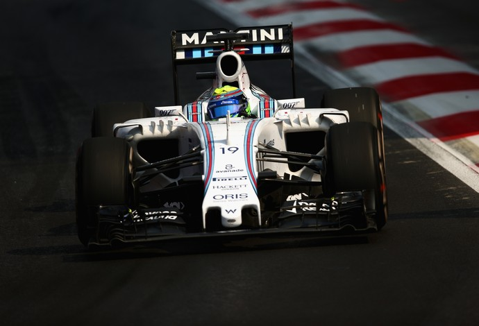 Felipe Massa acelera a Williams na pista do Hermanos Rodríguez, durante o GP do México (Foto: Getty Images)