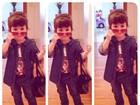 Filhinha de Fernanda Pontes mostra estilo em rede social com 'mini look'