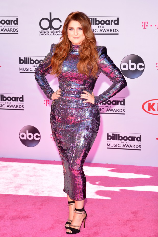 Meghan Trainor no Billboard Music Awards (Foto: AFP)