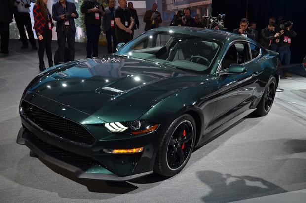 Ford Mustang Bullitt no Salão de Detroit 2018 (Foto: Newspress)