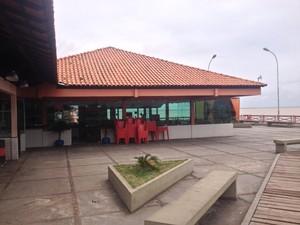 Local destinado à restaurante onde são realizadas festas em Macapá (Foto: John Pacheco/G1)