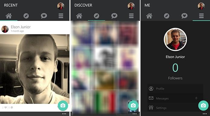 Selfy é uma rede social para selfies que acaba de receber importantes novidades (Foto: Reprodução/Elson de Souza)