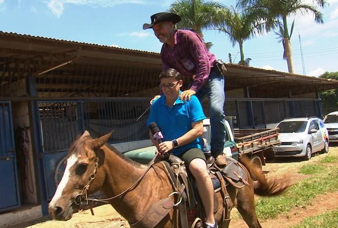 Marcos Paiva deu uma voltinha (Foto: Reprodução / TV TEM)
