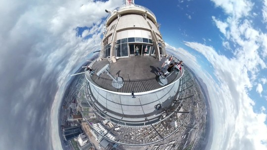 Segundo episódio de 'Fant360' mostra Las Vegas das alturas