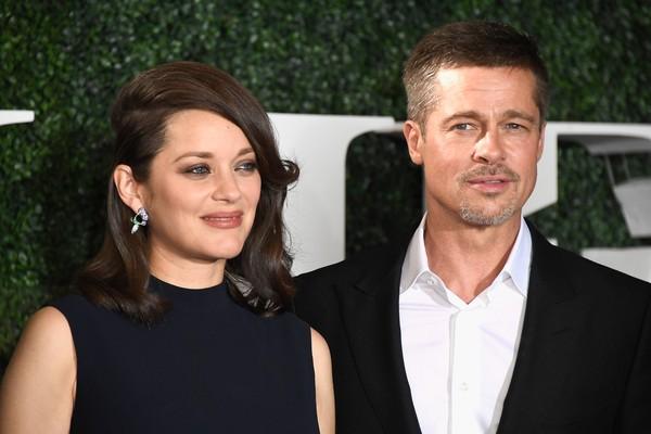 A atriz Marion Cottillard e o ator Brad Pitt (Foto: Getty Images)