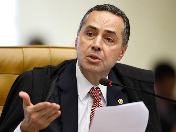 Ministro Luís Roberto Barroso durante sessão do STF, em Brasília, em abril de 2014 (Foto: Nelson Jr/SCO/STF)