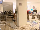 Criminosos explodem caixa no prédio da Justiça Federal em Uberlândia