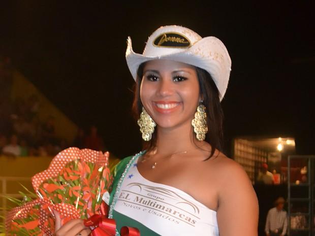 A vencedora foi Thaís Costa que ficou com o título de Garota Expo 2014 e R$ 1 mil em premiação (Foto: Flávio Ribeiro/Divulgação)