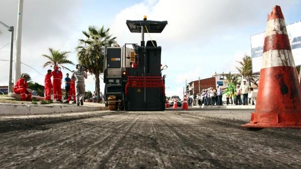 Obras de mobilidade urbana, em Fortaleza, começam pela Via Expressa (Foto: Estacio Jr./ Divulgação)