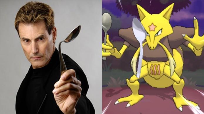 Uri Geller processou a Nintendo devido a semelhança com o pokémon Kadabra (Foto: Safe Braking / YouTube)