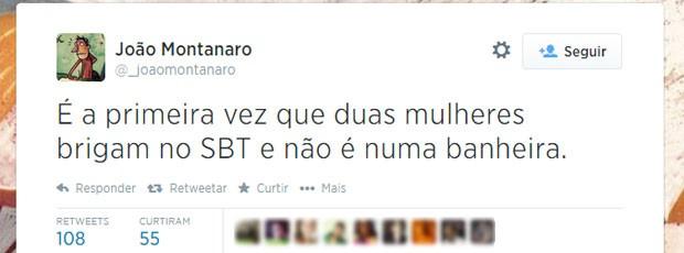 A troca de farpas entre Dilma e Marina foi vista com bom humor pelos usuários do Twitter (Foto: Reprodução/Twitter/_joaomontanaro)