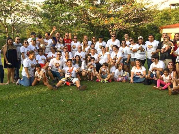 Os 'Borralhos' no primiero encontro de família, realizado em outubro de 2016 (Foto: Arquivo Pessoal/Carlos Borralho)