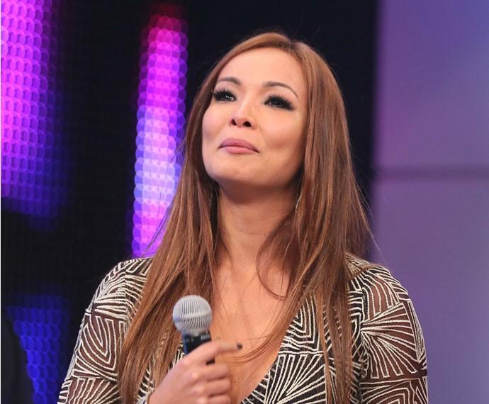 Nakamura se emocionou com as palmas (Foto: Isabella Pinheiro/Gshow)