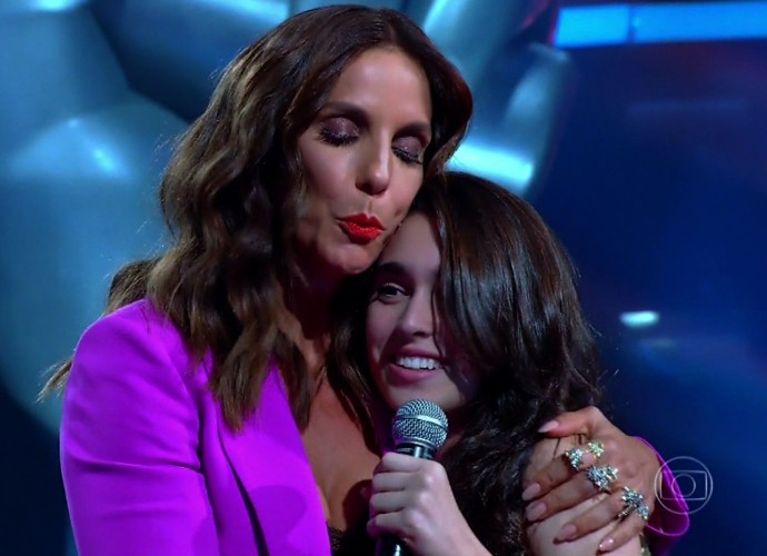 Vicky Valentim escolheu o time Ivete para seguir no 'The Voice Kids' (Foto: Reprodução/ The Voice Kids)
