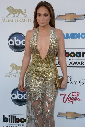 Jennifer Lopez no Billboard Music Awards (Foto: Robyn Beck/ AFP)
