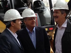 Alckmin, Haddad e Aldo Rebelo (Foto: Tatiana Santiago/ G1)