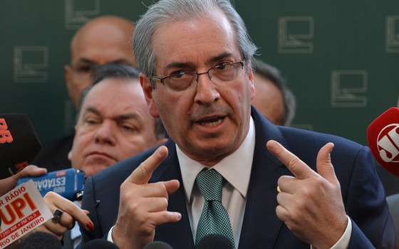 Eduardo Cunha, presidente da Câmara, anuncia rompimento político com governo (Foto: Antonio Cruz/Agência Brasil)