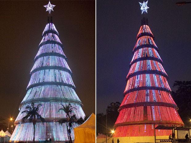 Árvore de Natal do Ibirapuera em 2010 (Foto: Leonardo Soares/AE)