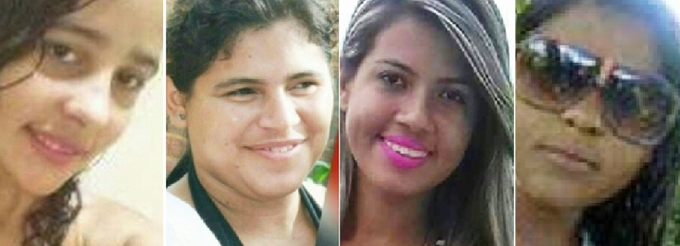 Helen Daiana da Silva, de 15 anos, Rosineide Paula Fernandes da Silva, de 23, Leidiane da Silva Freitas, 27, e Marina Rane Martins de França, 21, são quatro das seis vítimas da violência neste fim de semana no RN (Foto: PM/Divulgação)