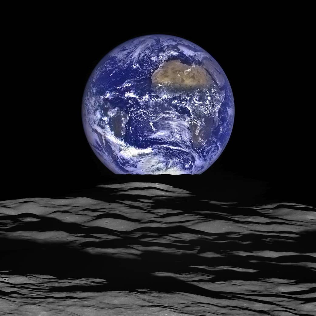 Nova imagem da Terra foi capturada da órbita da Lua (Foto: Divulgação / NASA)