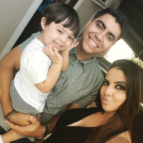 Bruna, o marido Maicon e o pequeno Enzo (Foto: Reprodução / Instagram)