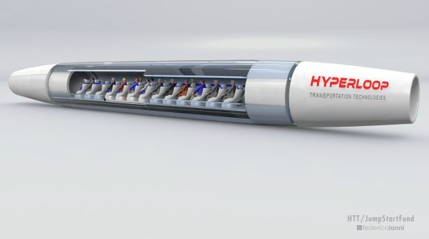 Projeto da cápsula do Hyperloop (Foto: Divulgação)