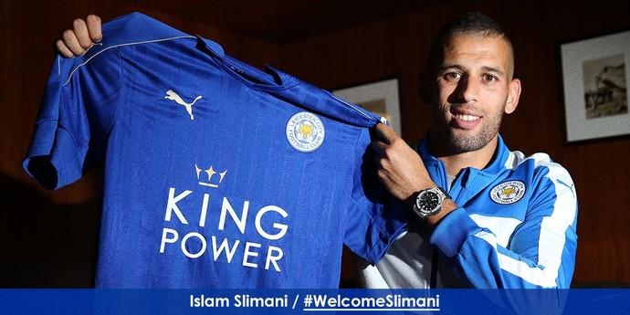 Slimani Leicester (Foto: Reprodução / Twitter)