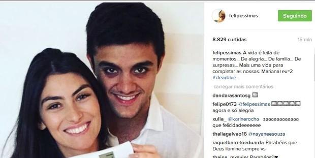 Felipe Simas e Mariana (Foto: Instagram / Reprodução)
