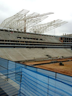 Cobertura arena corinthians itaquerão (Foto: Alexandre Lozetti)