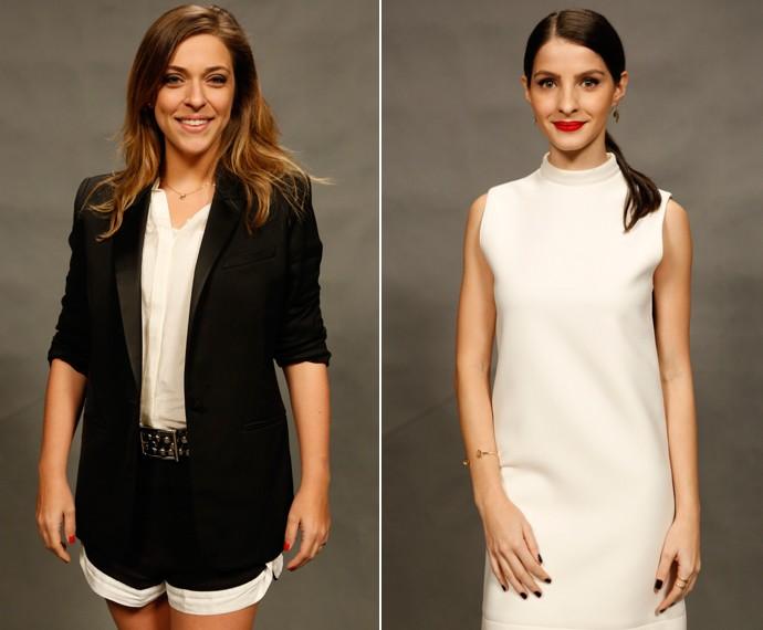 Júlia Rabello e Giselle Batista comemoram a entrada de Úrsula e Duda em A Regra do Jogo (Foto: Ellen Soares/ Gshow)