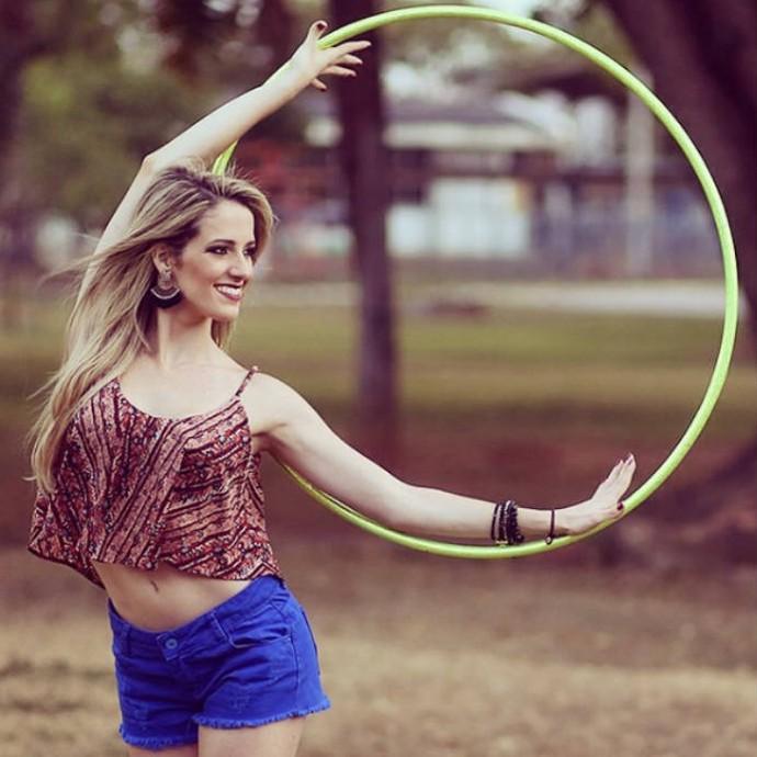 Natália Gaudio praticava vários esportes, optou por seguir na GR (Foto: Reprodução / Instagram)