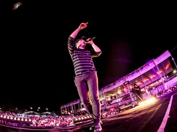 O cantor Wesley Safadão durante show em Jaguariúna (Foto: Fifo Albertoni)