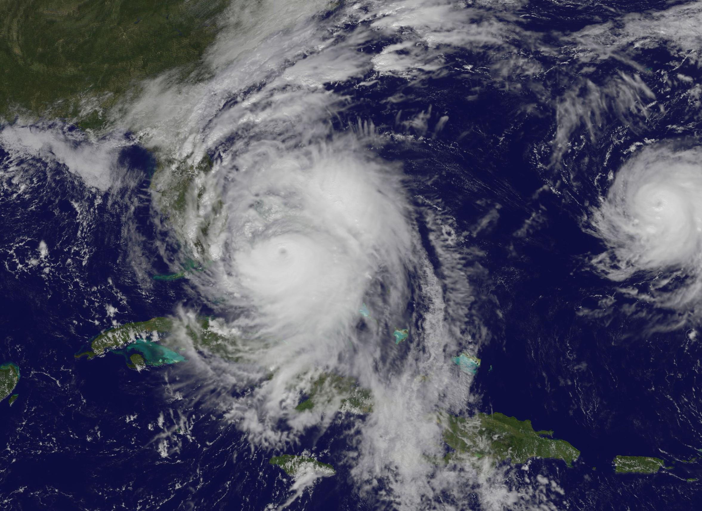 Furacão é de categoria 4 e deve atingir a Flórida nos próximos dias (Foto: NASA/NOAA GOES Project)