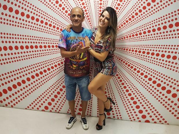 Tânia Oliveira e Mestre Ciça (Foto: Divulgação/Divulgação)