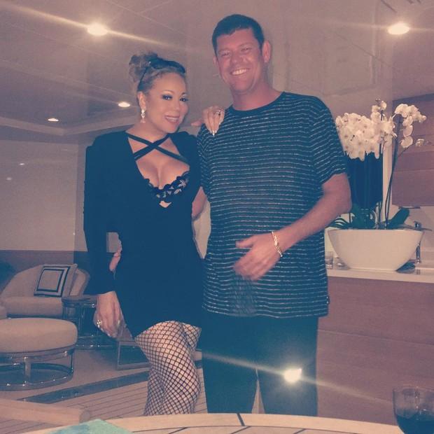 Mariah Carey e James Parker (Foto: Instagram / Reprodução)